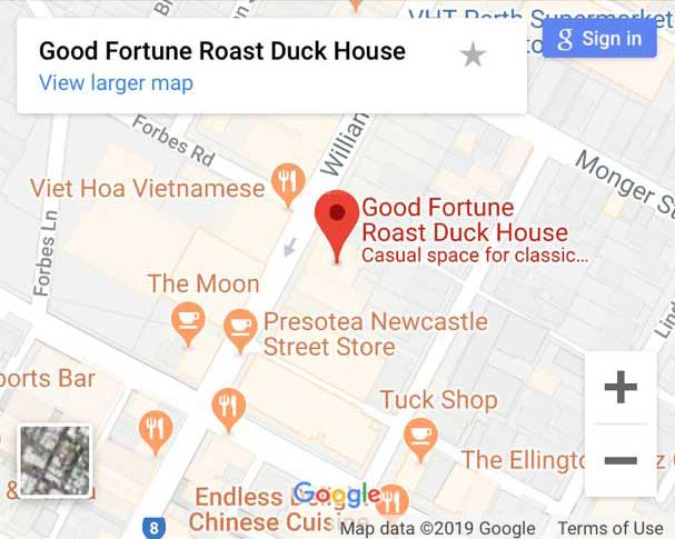 Welcome to Good Fortune Roast Duck House